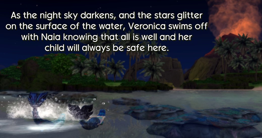 12 Veronica swims off