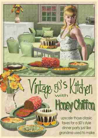 Honey's Vintage Kitchen poster copy