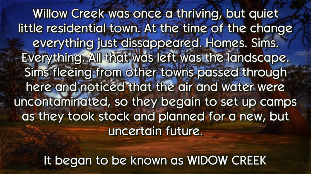widow creek the beginning
