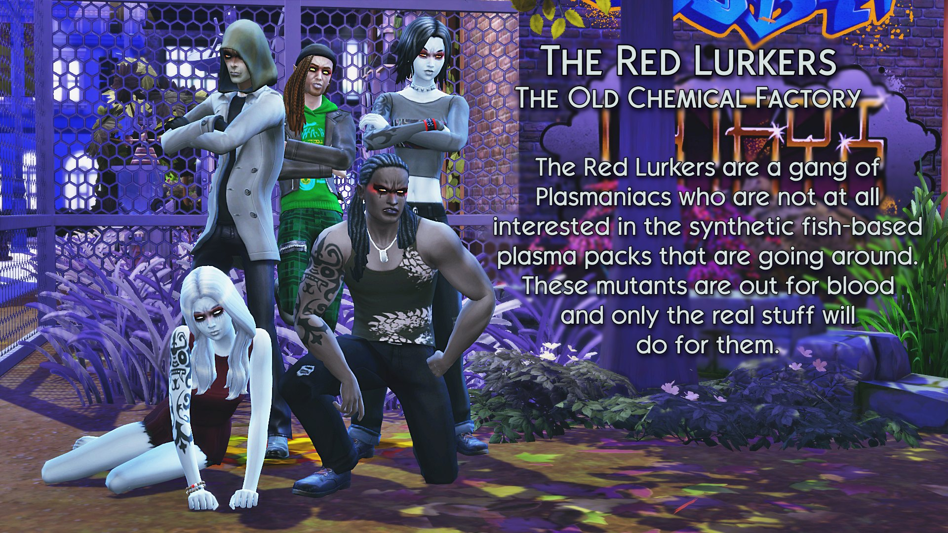 5 Red Lurkers at the Old Chemical Factory